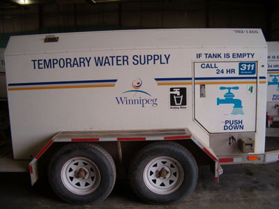 Temporary water supply tanks