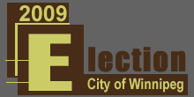 City of Winnipg 2009 By-Election Logo graphic english