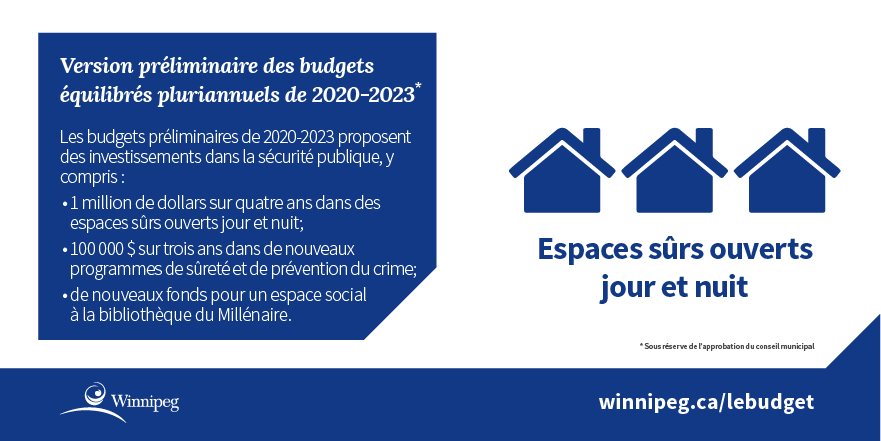 Infographie - investment in community safety and 24/7 safe spaces