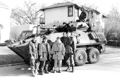 The army in front of a personnel carrier, City of Winnipeg Photo.