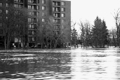 Flood waters pour into the underground parking of several apartment buildings, City of Winnipeg Photo.
