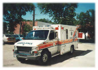 A colour picture of an ambulance, City of Winnipeg Photo