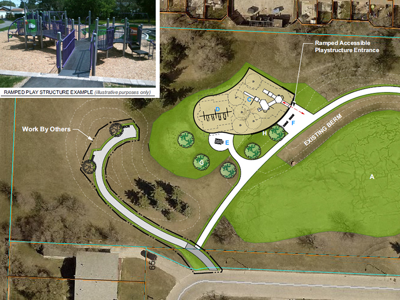 Bernadine Crescent Park redevelopment is one option of 13 options for enhancements.