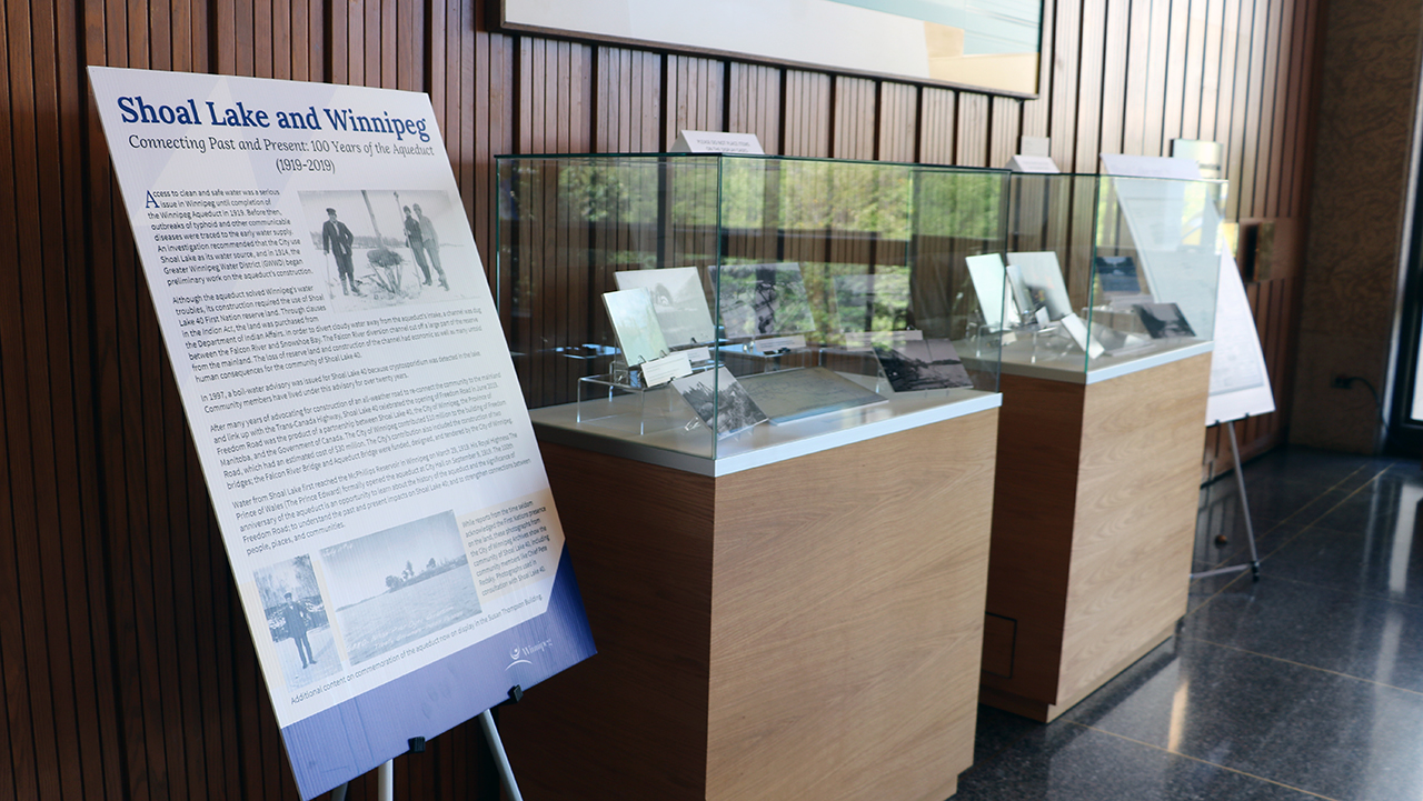 Temporary display marks 100 years of the Winnipeg Aqueduct