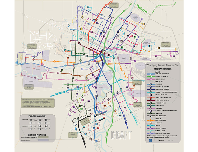 The map above shows the proposed full network.