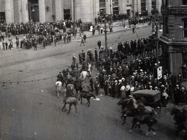 A silent march on June 21, 1919 turned violent. Two people were killed and several others were injured.