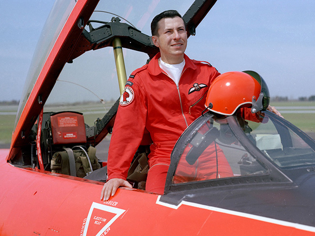 Credit: Department of National Defence. Bill Slaughter was from Winnipeg and was a Red Knight aerobatic pilot with the Royal Canadian Air Force.