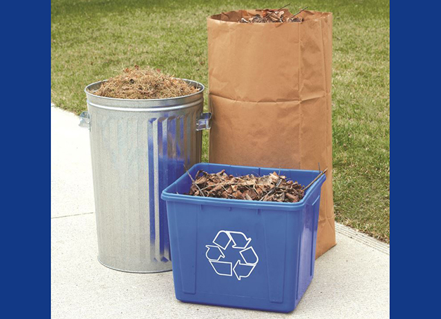 Yard waste is collected every other week from spring until fall.