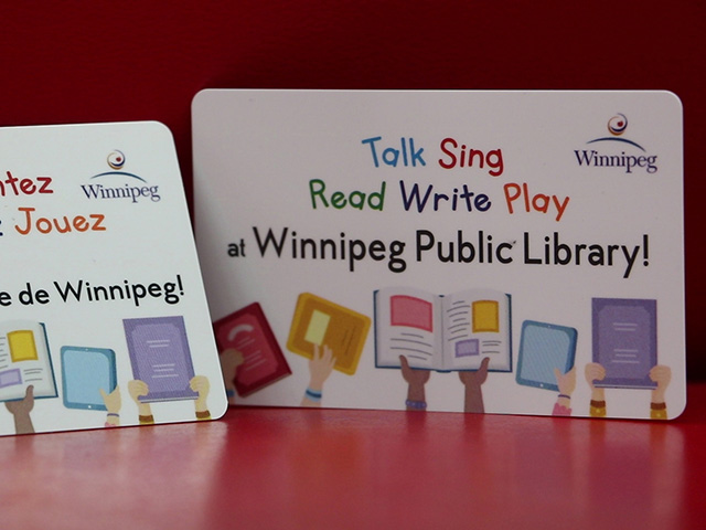 You can get a special library card for children on Take Your Child to the Library Day.