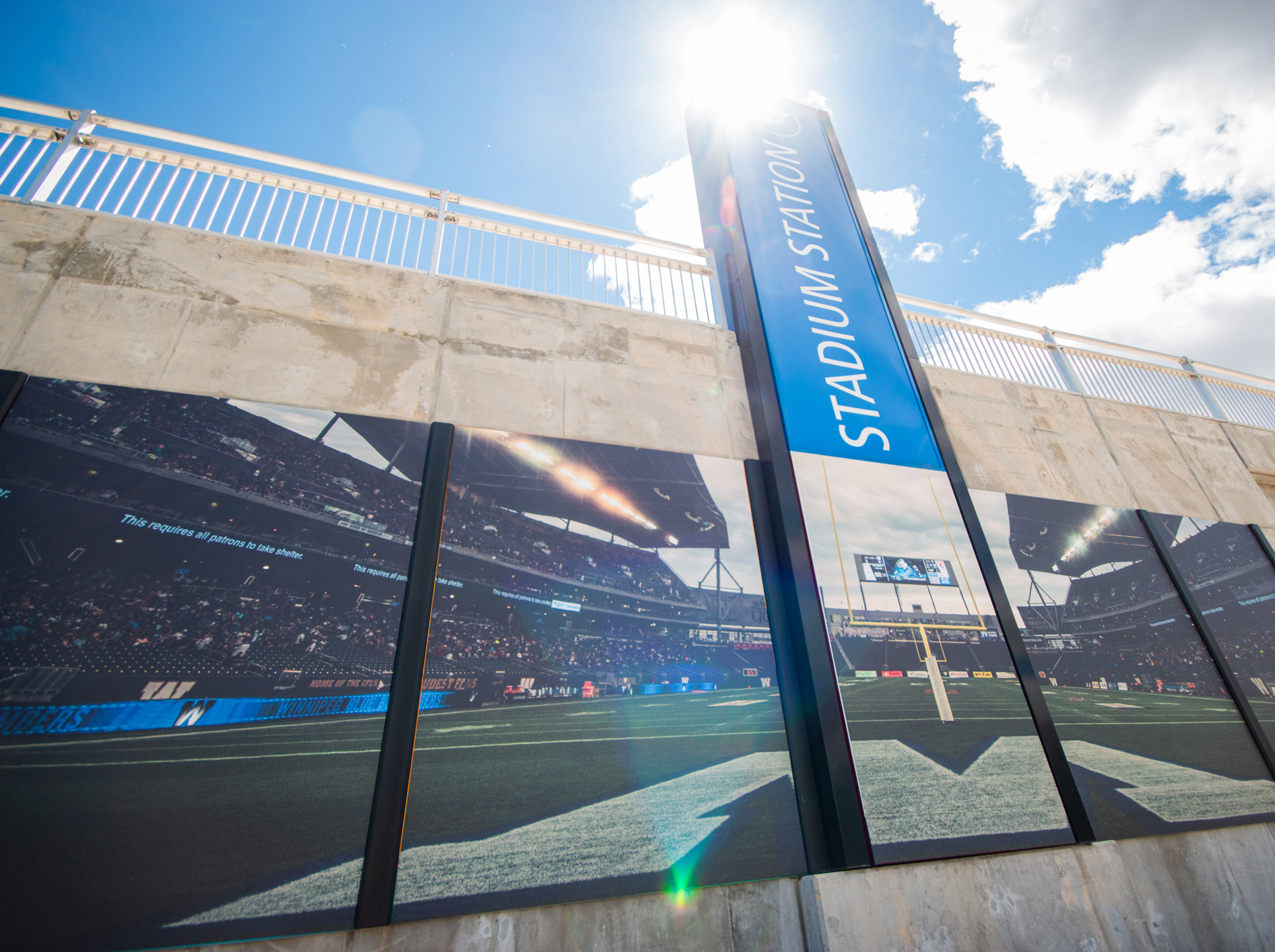 The images at Stadium Station at IG Field were selected by residents