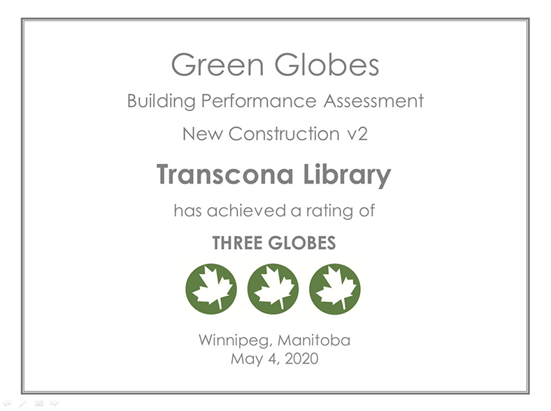 Three Green Globe certification