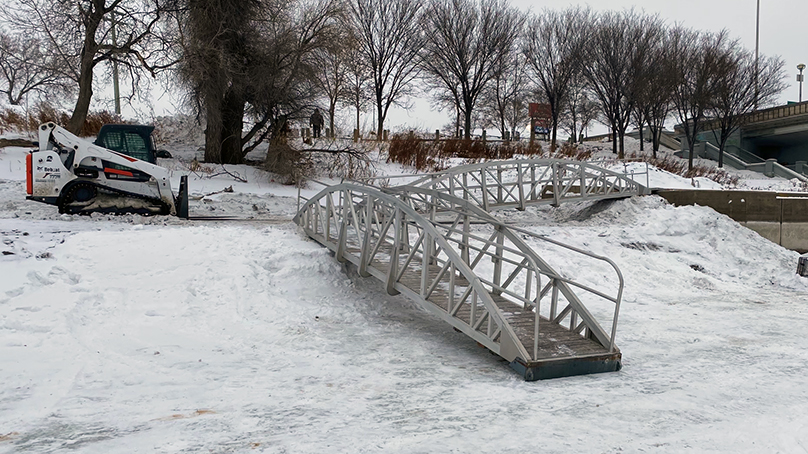 The ramp near the Norwood Bridge was installed in early February.