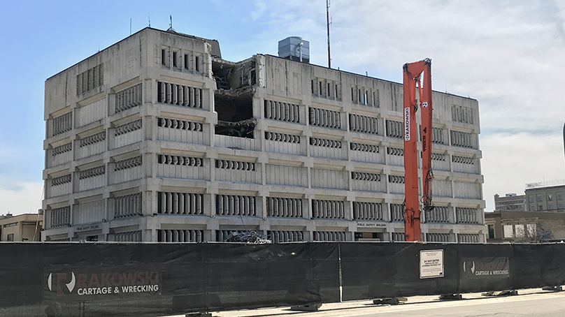 Demolition of the Public Safety Building.