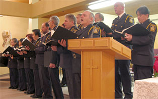 Winnipeg Police Service Choir performing