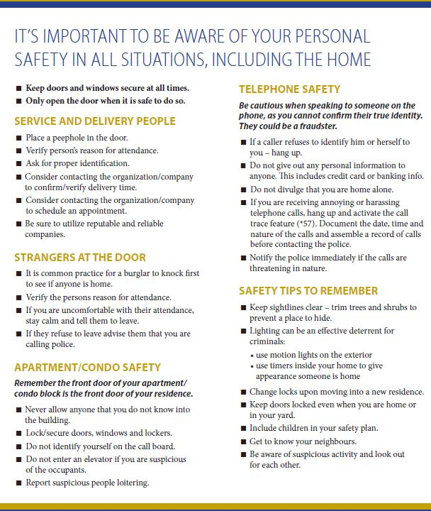 Winnipeg Police Service - Personal Safety in the Home