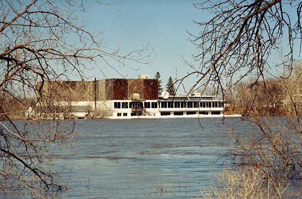 Former clubhouse, taken during the1997 flood