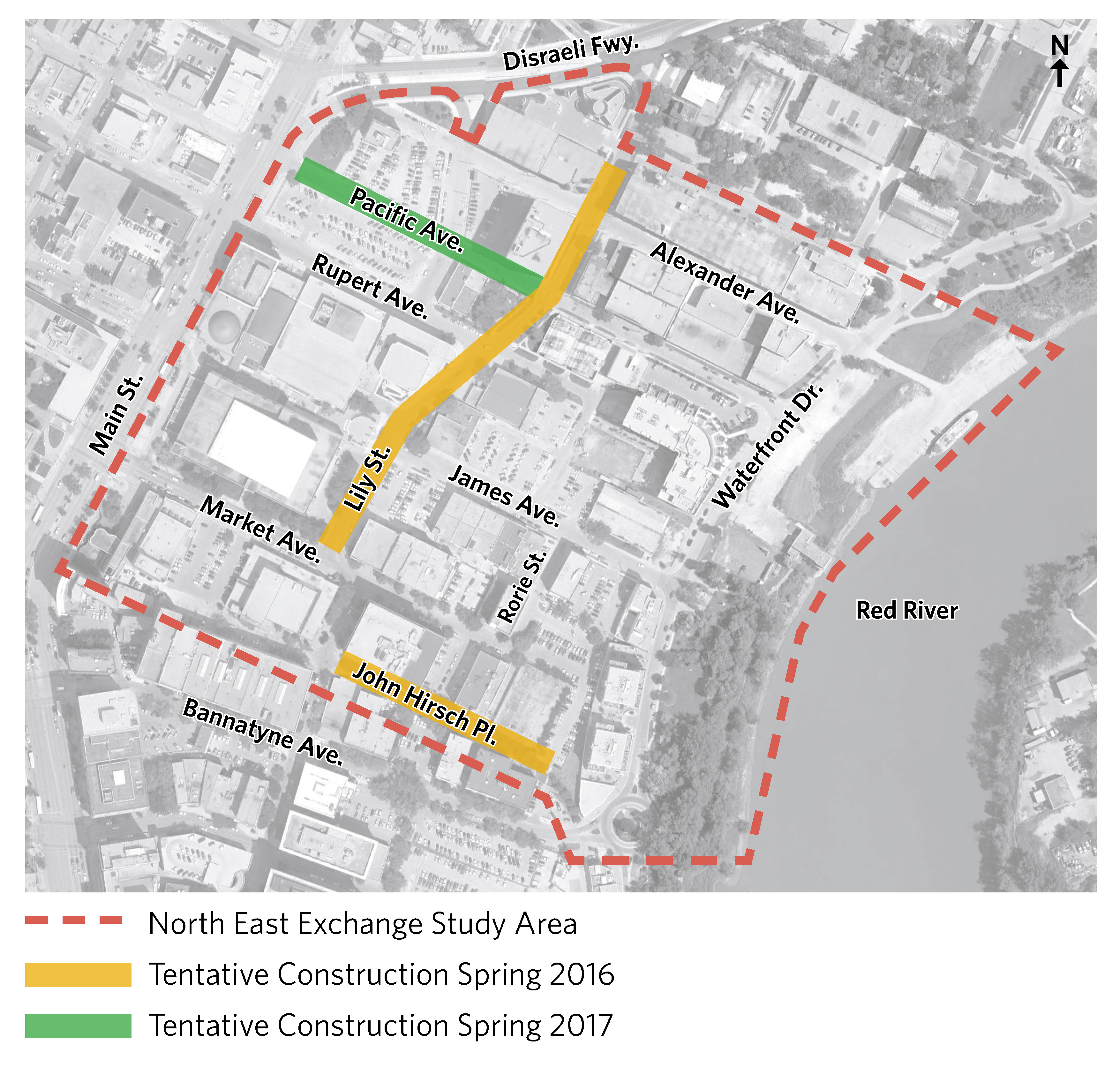 Construction Site Map: North East Exchange District Study