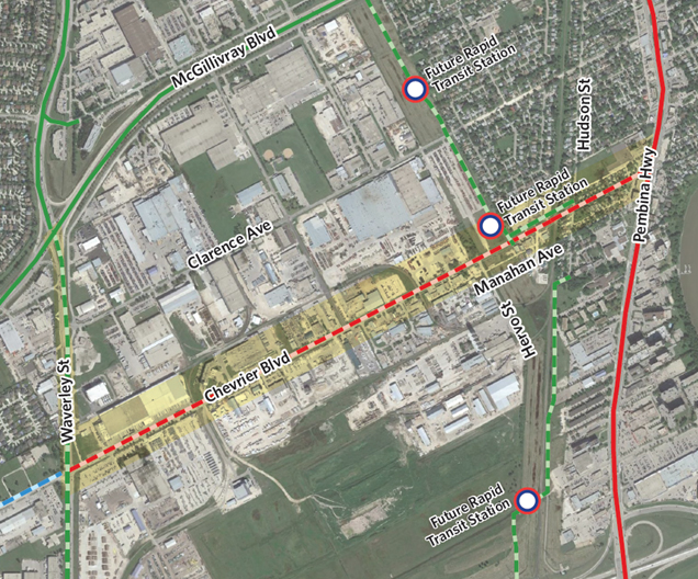 Chevrier walk bike project overview map