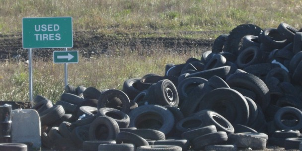 Used tires collected at Brady Landfill