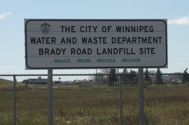 Brady Road Landfill Sign