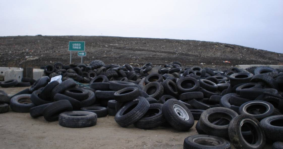 Tire Diversion area at Brady Landfill