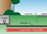 Sewer pipe responsibilities