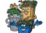 Acceptable yard waste containers